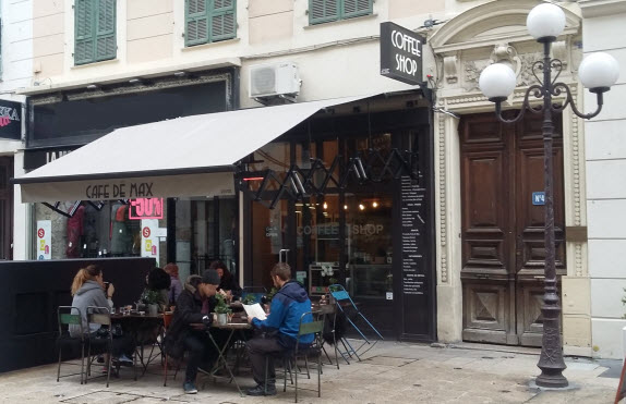 wifi cafes in nice - cafe de max